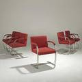 Ludwig mies van der rohe knoll set of six polished steel brno armchairs unmarked 32 12 x 22 12 x 23