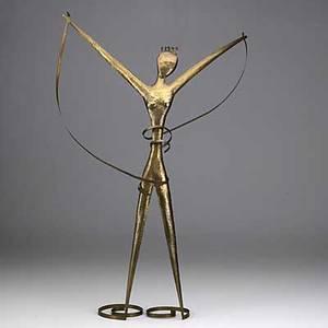 Franz hagenauer wiener werkstatte hammered brass figural sculpture hagenauer wien ww h made in austria franz 22 12 x 15
