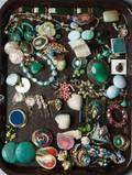 A Collection of Costume Jewelry Mostly earrings and