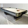 Brunswickbalkecollender co the centennial billiards table aluminum and enameled finish 1940s complete with cue and bridge sticks rack and balls metal tag the brunswickbalkecollender compan
