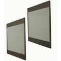 James mont pair of cerused oak mirrors unmarked 53 x 52
