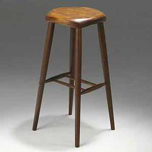 Robert whitley figured walnut stool carved whitley 26 12 x 13 sq