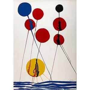 Alexander calder lithograph balloons signed calder in pencil 40 x 29 12