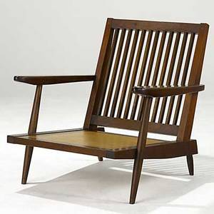 Realized Price For George Nakashima Walnut Cushion Chair