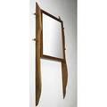Phil powell sculpted walnut adjustable mirror unmarked 77 x 39 12 x 3