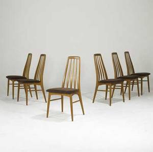Koefoeds hornslet set of six teak dining chairs with wool upholstery branded koefoeds hornslet danish control 38 x 19 x 18