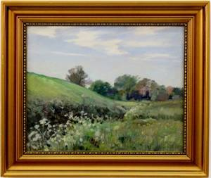 Aage Lund Danish Landscape Oil on Canvas