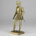 Francoisjoseph bosio french 17681845 bronze statue of a swordsman in period dress possibly henry iv 18th19th c signed bosio 16