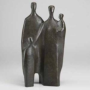 Joachim berthold german 19171990 contemporary bronze sculpture of a family 20th c 18