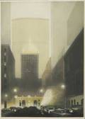 Richard haas american b 1936 pan am etching and aquatint framed signed and numbered 35 x 26
