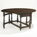 English gateleg table oak with dropleaf with two drawers 18th c 30 x 65 12 x 55 12 open