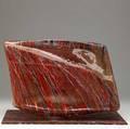 Jirvina zertova czechoslovakian twopiece glass sculpture with applied polychrome striations ca 199798 12 x 17 12 x 12 34
