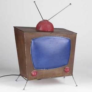 Daniel sadler american 19572004 tv lamp mixed media illuminated 20 x 13 x 11