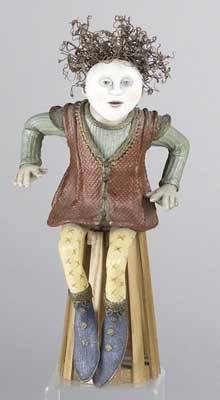 Akira  larry blount mixed media figural sculpture