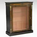 French curio cabinet ebonized bronze mounts 19th20th c 38 x 31 12 x 12 12