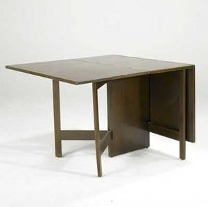 George nelson for herman miller gateleg dining table in dark walnut unmarked 30 x 66 x 40
