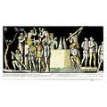 19th c print grouping four roman scenes framed image 9 x 16