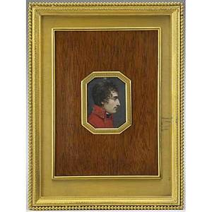 Jeanbaptiste isabey french 17671855 attr painting of napoleon 1st counsel 1806 on ivorybone gilt bronze easel frame frame 5 34 x 7 58