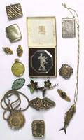 Jewelry and accessories fifteen pieces of asian american and european 19th20th c asian silver niello compact blackington and co sterling locket waltham colonial open faced 17 jeweled pocketwat