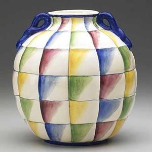 Gio ponti richard ginori quilted ceramic vessel stamped richardginori s cristoforo milano made in italy 66p 8 12 x 7 14