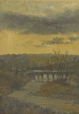 Worthington thomas whittredge american 18201910 the stream oil on paper framed 1872 provenance private collection new jersey signed and dated 5 78 x 4 14 sight