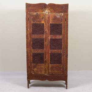 A Primitive Painted Pine Jelly Cabinet