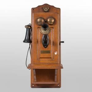 A North Electric Co Telephone in Oak Case