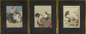 Six japanese woodblock prints 19th and 20th c all framed largest attributed to kawase bunjiro hasui japanese 18831957 14 12 9 12