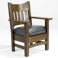 Charles stickley armchair unsigned 39 12 x 30 x 23