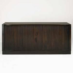 Edward wormley dunbar cabinet usa 1940s mahogany oak and leather green metal label 34 x 78 x 21 12
