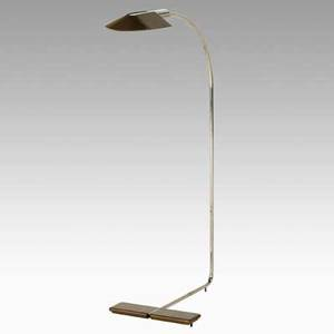 Cedric hartman cedric hartman inc adjustable floor lamp usa 1970s brass chrome plated steel acrylic impressed signature 36 x 20 x 11