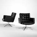 Vincent cafiero knoll associates pair of lounge chairs usa 1960s leatherette chromed steel polished aluminum unsigned 32 x 29 12 x 32