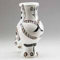 Picasso madoura glazed ceramic owl pitcher france ca 1951 two medallions edition picasso madoura 11 34 x 8 12