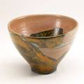 Wayne higby rakufired glazed earthenware vessel usa chop mark 6 12 x 9 34