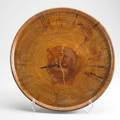 Ed moulthrop large turned charger usa ca 1980 georgia pine branded m inscribed moulthrop georgia pine 22 x 2 12