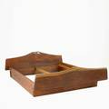 Horace hartshaw queensize bed usa 1972 carved american black walnut note hartshaw was the last apprentice to work under wharton esherick provenance purchased from the artist 27 14 x 84 x