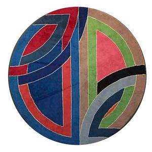 Frank stella modern masters tapestries inc wool tapestry after sinjerli variation ii usa ca 1976 embroidered panel reads frank stella 910 dia