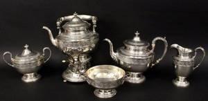 Gorham Six Piece Sterling Tea  Coffee Set