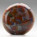 Michele burato hand blown glass vessel lente n2 italy 2001 signed titled and dated 12 34 x 13 x 4