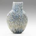 Massimo micheluzzi hand blown battuto and murrine glass vessel italy 2002 signed and dated 16 12 x 11 x 4 12