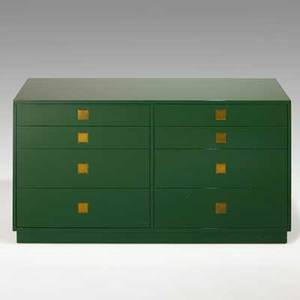 Tommi parzinger parzinger originals eightdrawer dresser usa 1960s lacquered wood brass 32 14 x 60 x 18 14