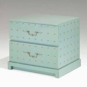 Tommi parzinger parzinger originals twodrawer studded nightstand usa 1960s lacquered wood nickelplated brass unmarked 21 x 24 x 19 12
