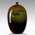 Elizabeth ayers weller weller louwelsa vase with fish signed louwelsa weller 540 9 14 x 5 12