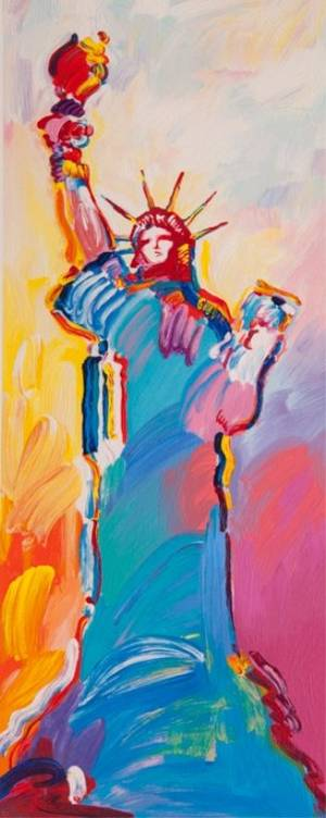 Peter Max Print Statue of Liberty