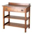 Stickley brosattr server with single drawer and two lower shelves unmarked 38 x 38 x 18