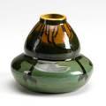 Avon squeezebag decorated vase incised mark avon rhead 4 34 x 5 12 dia