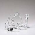 Baccarat waterford five pieces steuben giraffe polar bear dog and iceberg and waterford golfer statue all marked tallest 7 12