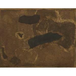 Yutaka ohashi japanese b 1923 mixed media on canvas untitled 1960 framed signed and dated 11 x 14
