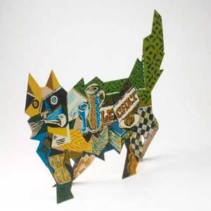 David gerstein american b 1944 enameled metal vangogh  braque cat signed and numbered 160250 16 x 27 x 8