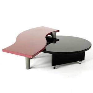 Maurizio salvato saporiti italia nike coffee table italy 1990s enameled wood and metal unmarked 15 x 63 x 46
